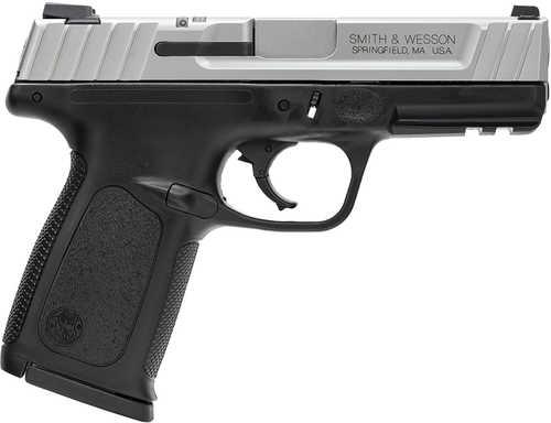 "Smith & Wesson SD9 VE Pistol 9mm 4"" Barrel 16 Round Stainless Steel Slide Black Frame 223900"