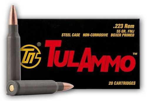 223 Remington 55 Grain Full Metal Jacket FMJ 20 Round Ammunition Tula TA223550