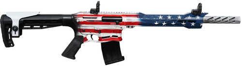 "Citadel Boss 25 American Flag Cerakote Tactical Shotgun 12 Gauge 18.75"" Barrel 3"" Chamber 5 Round Fixed Adjustable Comb Stock Flip Up Sights 2 Magazines CBOSS2512USA"