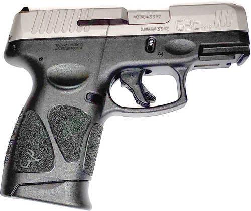"""Taurus G3C Pistol 9mm 3.20"""" Barrel 12 Round Stainless Steel Slide Black Polymer Grip 3 Magazines 1G3C939"""