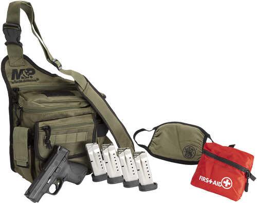"Smith & Wesson M&P Shield 9mm Pistol 3.10"" Barrel 8 Round Black Finish Bug Out Bag Bundle"