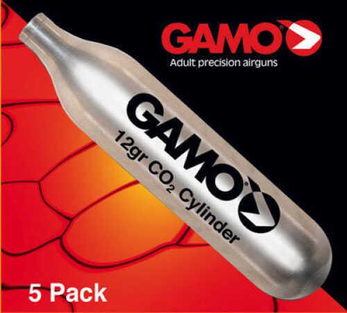 Gamo Air Gun CO2 Cartridges 5 pack - 12gr CO2 cylinder cartridges for air pistols 621247054