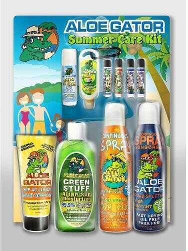 Aloe Gator Family Summer Care Kit