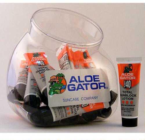 Aloe Gator AloeGator 40 SPF LTN Fishbowl 1oz 24Pc Counter Dislay 40224