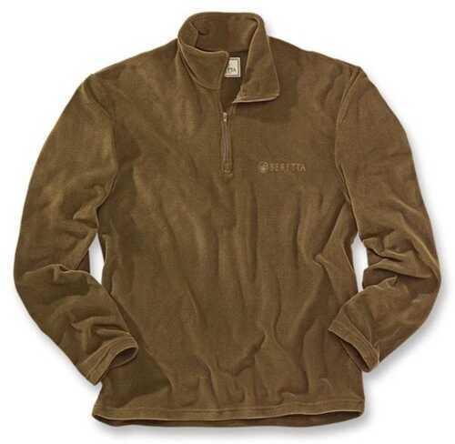Beretta Light Polar Fleece Half-Zip, Brown, Large