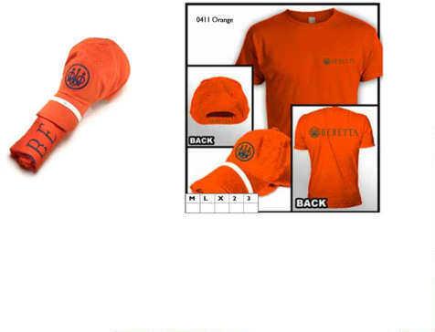 Beretta Hat & T-Shirt Roll Up Combo, Orange, Large
