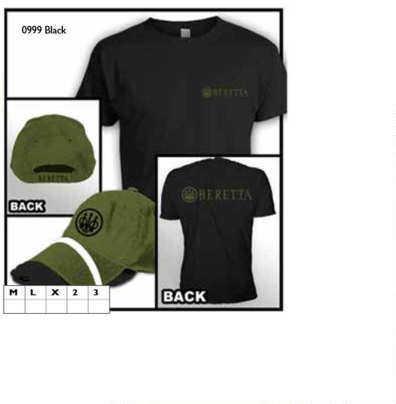 Beretta Hat & T-Shirt Roll Up Combo Black/Green, X-Large