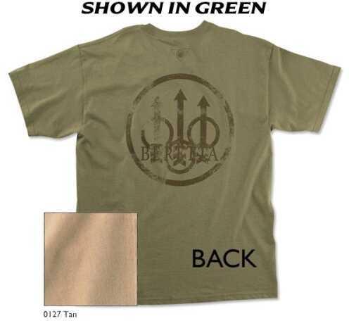 Beretta 30582 - Trident Graphic T-Shirt Tan Med TS5270850127M
