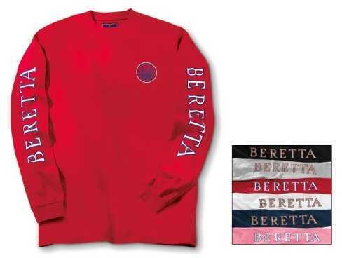 Beretta 75377 T-Shirt Double Logo Long Sleeve Large TS71729458L