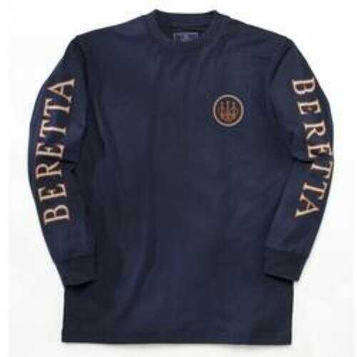 Beretta Longsleeve T-Shirt Double Logo Navy Blue 2XL
