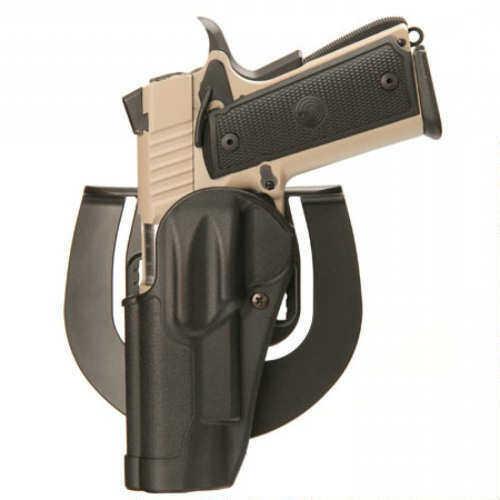 BlackHawk CQC Sportster Belt Holster Left Hand Black Glock 42 Belt Loop And Paddle 415667Bk-L