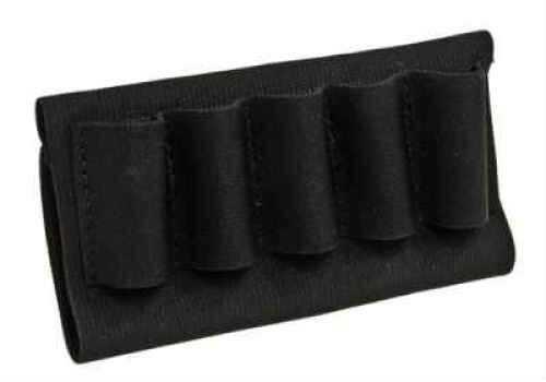 BlackHawk Products Group Buttstock Shell Holder - Open Style Shotgun (5 Loops) - Elastic sleeve slips right over stock - Sewn 74SH02BK