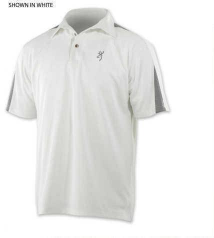 Browning Highline Shooting Polo Shirt Gray, X-Large 3010707904