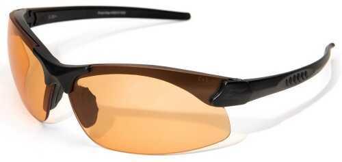 Edge Safety Eyeware Sharp Edge - Black/tigers Eye Lens Glasses SSE610
