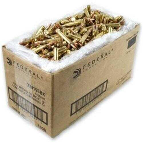 Federal Cartridge .223 Remington 55gr FMJ Bulk /1000 Rounds AE223BK