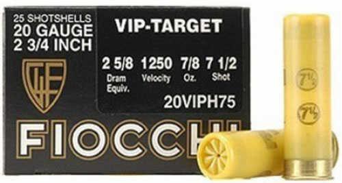 "Fiocchi Ammo Exacta Target Loads VIP Heavy - 20 gauge - 2 3/4"" - 24 gr - 7/8 oz. shot - 1250 FPS - Shot size: 7.5 20VIPH75"