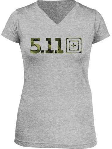 5.11 Inc Tactical URBN ASAULT Short Sleeve Shirt Woman Heather Grey Large 31004AI016L