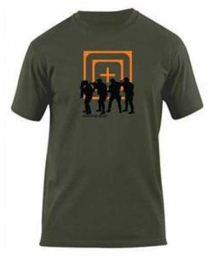 5.11 Inc Cross Hair Stacked Logo T Shirt Olive Drab Small 41006AP182S