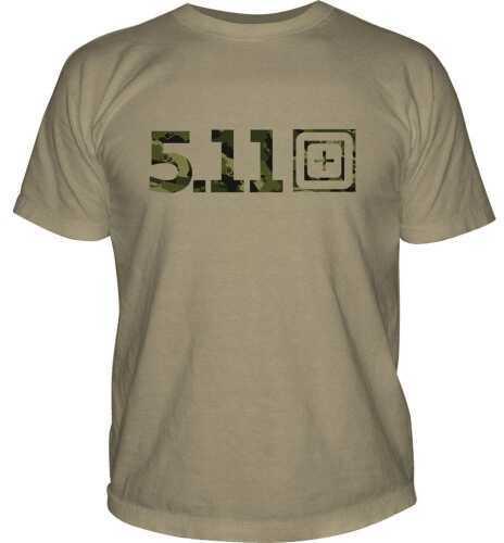 5.11 Inc Tactical Camo Logo short sleeve Shirt Tan Medium 41006BG170M