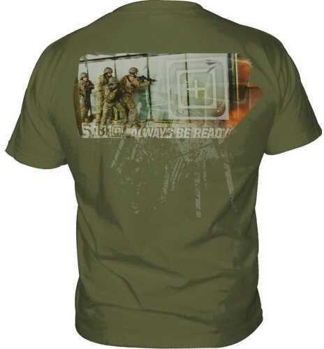 5.11 Inc Tactical Blaster Logo Short sleeve Shirt OD Green Medium 41006BN182M