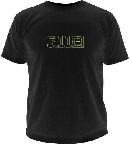 5.11 Inc Tactical Target Zero Logo short sleeve Shirt Black Medium 41006BQ019M