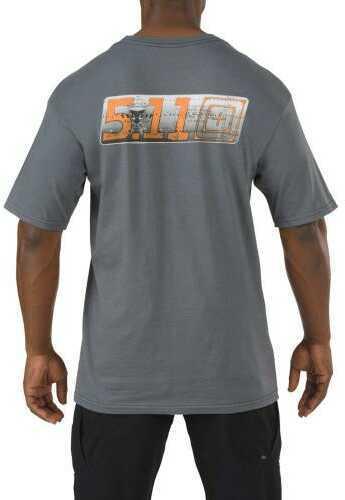 5.11 Inc Logo Short Sleeved Tshirt Flight Path Charcoal Xl