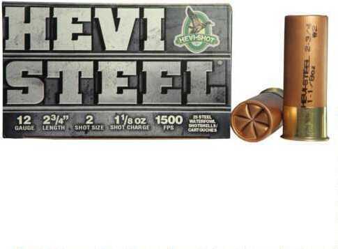 Hevi-Shot Hevishot Hevi-Steel 12ga Ammo 2.75in 1.13oz 2 25rd/bx 61222