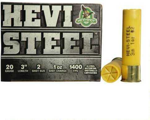 Hevi-Shot HeviShot HEVI-Steel 20Ga 3In .88Oz 2 25Rd/Bx 62002