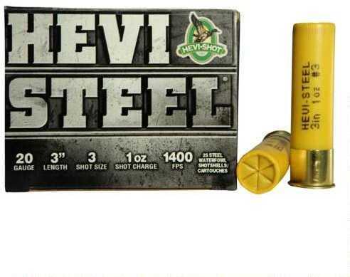 Hevi-Shot HeviShot HEVI-Steel 20 Gauge 3In .88Oz 3 25Rd/Bx 62003