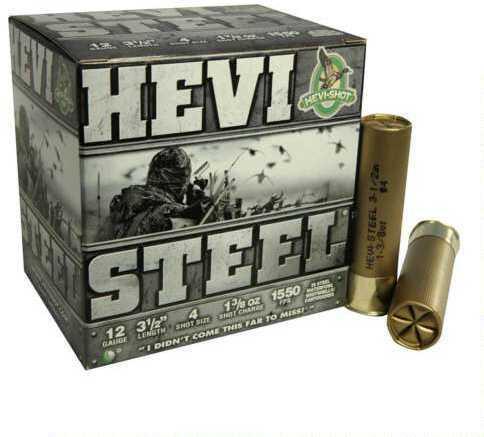 Hevi-Shot Hevishot Hevi-steel 12ga Ammo 3.5in 1.38oz 4 25rd/bx 65004