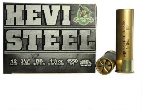 Hevi-Shot HeviShot HEVI-Steel 12Ga Ammo 3.5In 1.38Oz BB 25Rd/Bx 65088