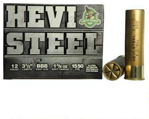 Hevi-Shot HeviShot HEVI-Steel 12Ga Ammo 3.5In 1.38Oz Bbb 25Rd/Bx 65888