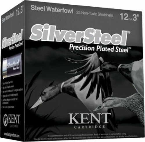 Kent Cartridges Silver Steel Waterfowl 12Ga 3.5In #2 1.5Oz 25Rd KSS1235422