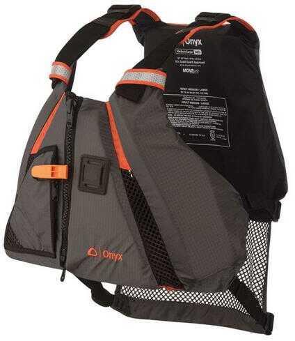 Onyx Outdoor Full Throttle Paddle Sports Dynamic Type III Adult Flotation Vest XL/XXL Orange/Grey
