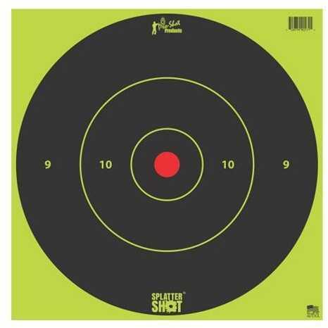Pro-Shot 12in Green Bullseye Target Heavy Tag Paper 12 Pk Bag