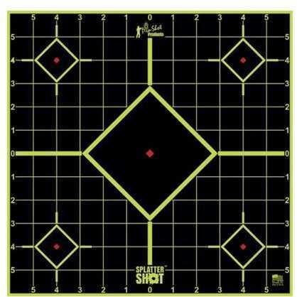 Pro-Shot 12in Green Bulls Eye Target 5 Pk Bag