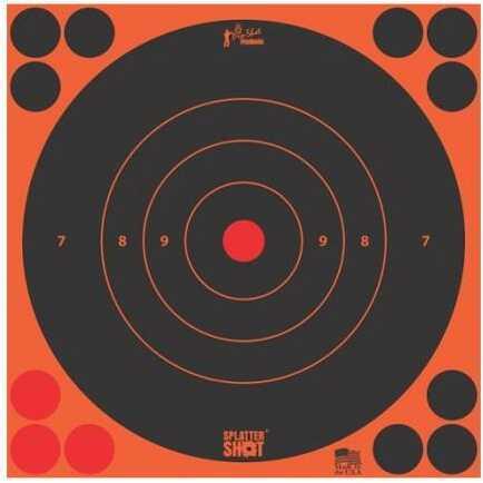 Pro-Shot 8in Orange Bulls Eye Target 6 Quantity Pack