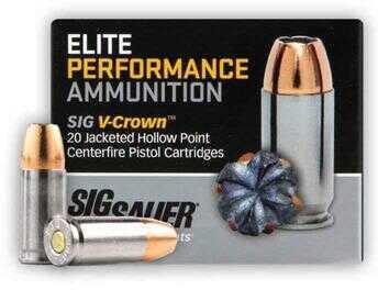 Sig Sauer Pistol V-Crown Elite 44 Spec 240 Gr Ammo