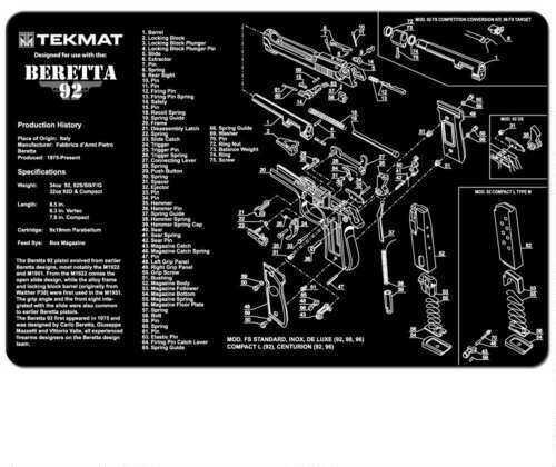 TekMat Beretta 92 - 11x17In