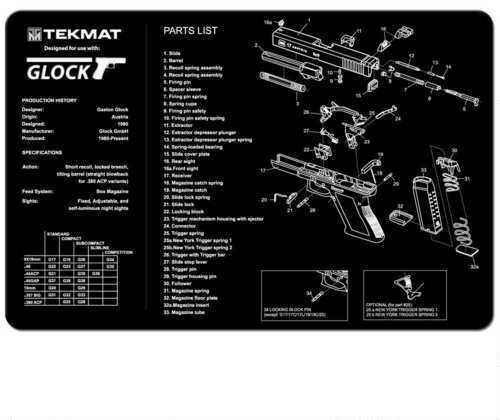 TekMat Glock - 11x17In