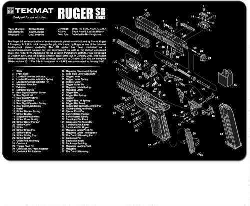 TekMat Ruger SR 9 (SR 40) - 11X17In