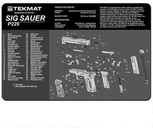 TekMat Sig Sauer P229 - 11x17In