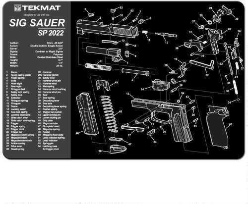 TekMat Sig Sauer SP2022 - 11X17In