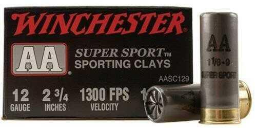 Winchester AA Clay 12Ga 2.75In 1.125Oz 9 25/Bx