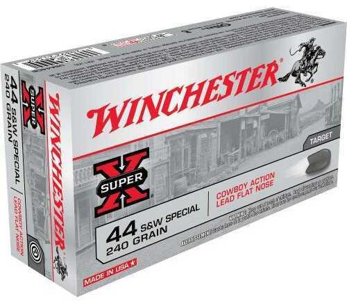 Winchester 44 S&W Special 44 S&W Specia,l 240gr, Cowboy Loads Lead, (Per 50) USA44CB