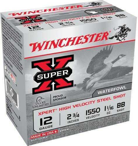 Winchester SUPR-X XPRT W 12Ga 2.75 1.0625 BB 25/Bx