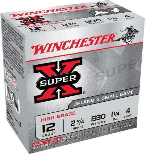 """Winchester 12 Gauge 12 Gauge, 2 3/4"""", 1 1/4oz 4 Shot, (Per 25) X124"""
