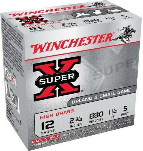 """Winchester 12 Gauge 12 Gauge, 2 3/4"""", 1 1/4oz 5 Shot, (Per 25) X125"""