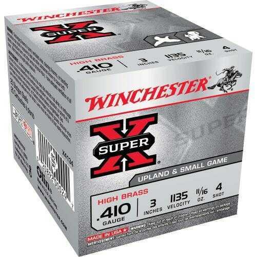 "Winchester .410 Gauge .410 Ga, 3"", 11/16oz, 4 Shot, (Per 25) X4134"