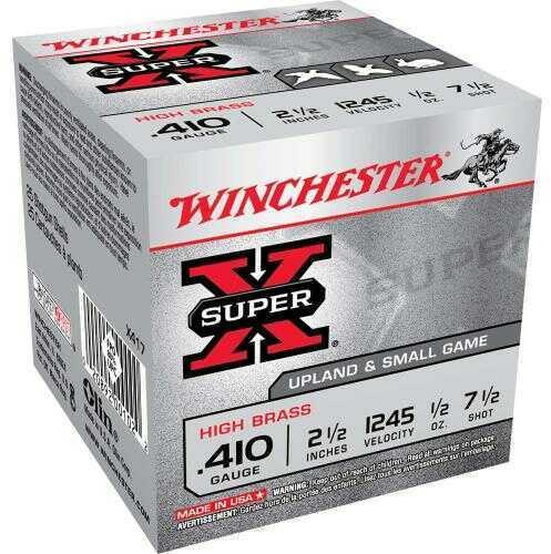 "Winchester .410 Gauge .410 Ga, 2.5"", 1/2oz, 7 1/2 Shot, (Per 25) X417"